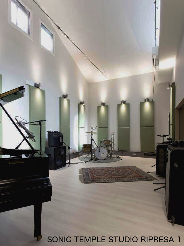 come costruire studio di registrazione Sonic Temple Parma